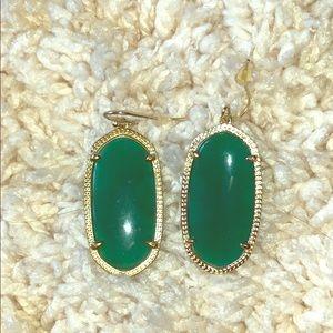 Kendra Scott 'Elle' earrings in green